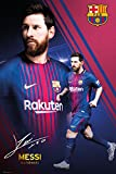 GB eye Ltd Barcelona, Messi Collage 17/18, Maxi Poster 61 x 91,5 cm, Holz, Verschiedene, 65 x 3,5 x 3,5 cm