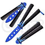 MTech Unsharpenable Practice Blunt Balisong Butterfly Knife Training Aid Blue