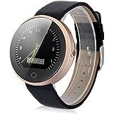 "Haier G6 - Ajustable Smartwatch Reloj de Pulsera para Moviles Ios Android (1.22"" Pantalla IPS, Bluetooth, Podometro, Ritmo Cardiaco, Monitor de Sueño, Control Remota¡o de Camara), Dorado"