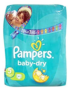 PAMPERS Baby Dry T5 Jr 11-25kg Géant x41 couches