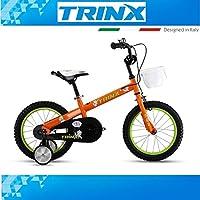 Bicicletta per bambini trinx Red Elf 2.016pollici ruotine cestino Arancione