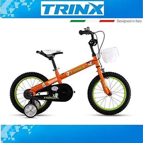 KINDER FAHRRAD TRINX RED ELF 2.0 16 Zoll Stützräder Korb Orange Kinderfahrrad