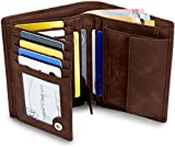 GenTo® Herren Geldbörse Dublin - TÜV geprüfter RFID NFC Schutz - Geräumiger Geldbeutel im Hochformat | Design Germany … (Dunkelbraun Soft)