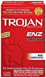Trojan ENZ Non-Lubricated Latex Condoms, 12 count