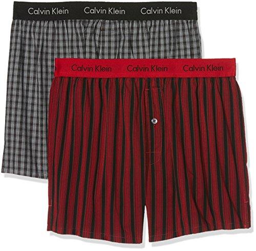 Calvin Klein Men's 2p Slim Fit Boxer Boxer Shorts