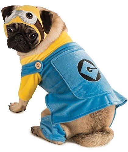 ustier Hund Katze Minion Ich - Einfach Unverbesserlich Halloween Kostüm Kleid Outfit XS-XL - XXL (Hund Minion Kostüm Xxl)