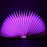 Wmshpeds Creative-Stroboskop-Fernbedienung buntes Hauptdekoration Buch Licht Lade Atmosphäre LED-Nachtlicht Geschenk