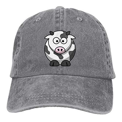 Männer Frauen Klassische Denim Cartoon Kuh Einstellbare Baseballmütze Papa Hut Low Profile Perfekt Für Outdoor (eine größe)