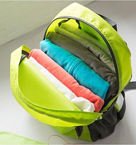 Duang® Unisex 25L Faltbarer Rucksack Leichter Wasserdichte Taschen, für Outdoor Wandern Reisen und Camping Reisen Wandern Trekking-Beutel Daypack Grün