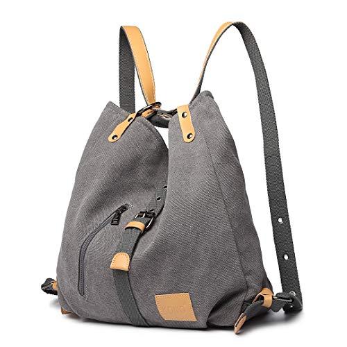 Kono Mochila de bandolera, bolsos de lona versátiles y multifuncionales para las mujeres niñas,...