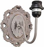 Clayre & Eef 6LMP216 Wandlampe natürlich OHNE LEUCHTMITTEL ca. 19 x 22 x 24 cm E27 max. 60W