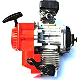 Rojo 49cc 2tiempos motor Motor para Mini suciedad Mono bolsillo para bicicleta de ATV Quad Go Kart