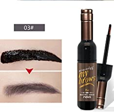 Generic Women's Waterproof Peel Off Tattoo Wine Bottle Eyebrow Tint Wax Gel (B073VS2ZJW)