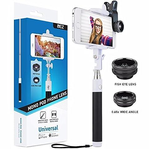 Perche de Selfie, BEZ® Kit de Selfie Universel, Selfie Stick Bâton Monopode avec Trépied pour iPhone SE 5 5S 6 6S, Samsung Galaxy, Sony Xperia, Microsoft Phones, HTC, LG, GPS etc