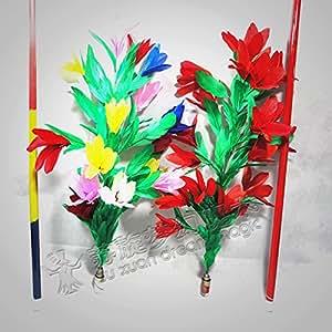Tige en acier accessoires de magie shrink-qualité devient fleur bâton fleur devient une scène rétractable fleur bâton accessoires de magie