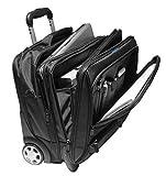 Business-Trolley - Laptop-Trolley, 17 Zoll [41 cm x 30 cm] schwarz, 2 Rollen, Organizer