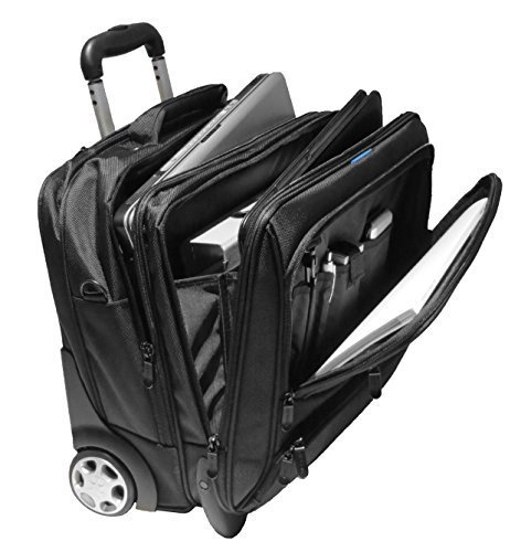 Business-Trolley - Laptop-Trolley, 17 Zoll [41 cm x 30 cm] schwarz, 2 Rollen, Organizer