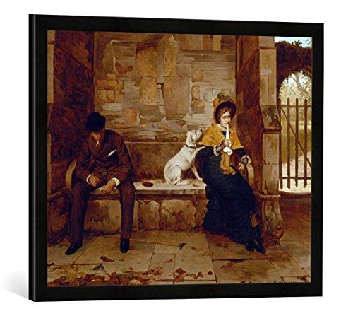 Gerahmtes Bild von Edwin Hughes Der Friedensstifter, Kunstdruck im hochwertigen handgefertigten Bilder-Rahmen, 70x50 cm, Schwarz matt -