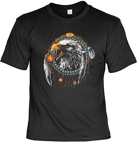 Unbekannt Adler Mandela Weißkopfadler Indianer Motiv: Indian Eagle (Größe: S) - T-Shirt bedruckt -