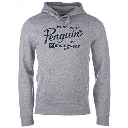 original-penguin-felpa-con-cappuccio-uomo-grey-heather-x-large