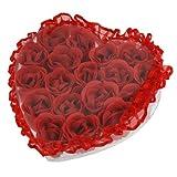 18 Pcs Bathroom Red Scented Flower Bath ...