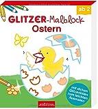 Glitzer-Malblock Ostern: Mit dicken Glitzerlinien zum leichten Ausmalen