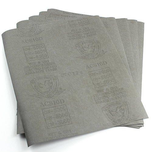 HeroNeo® 5feuilles papier abrasif 3000Grain papier imperméable 22,9x 27,9cm humide/sec en carbure de silicium