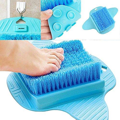 Cepillo para pies de mosie con cerdas de limpieza profunda, duro y resistente piel seca, callos exfoliados, estimulan el limpiador de pies, masajeador de pies para suelo de ducha (azul)