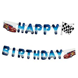 SUSY CARD 11450251 - Guirnalda de Feliz cumpleaños diseño Súper Corredor, 2 m, 1 Unidad
