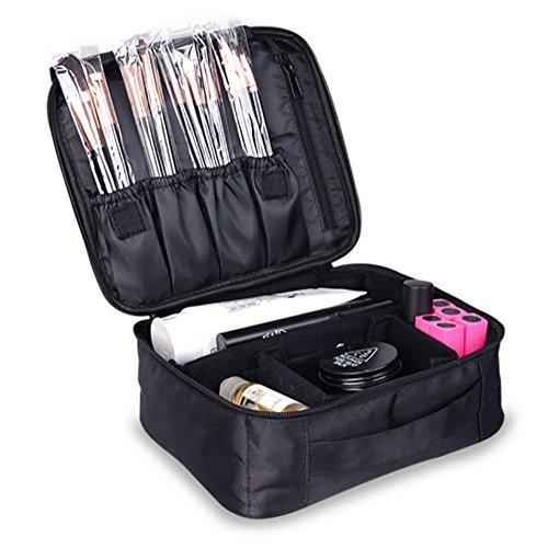 multifonctions Noir Profession Trousse à maquillage Beauté Maquillage kit de voyage Organiseur à suspendre Trousse cosmétique Trousse de toilette, Noir
