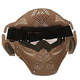 Airsoft-Maske, Maske für das ganze Gesicht, Mesh-Maske, Schutzmaske, Militärschutzmaske, ideal für Paintball / Halloween-Kostüm, von HaoYK, hautfarben - 7