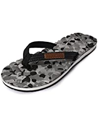 Electra Kids Black&Grey Color Thong-Style Slippers/Flip Flops