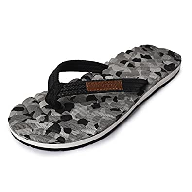 Electra Kids Black&Grey Color Thong-Style Slippers/Flip Flops (Size-2)