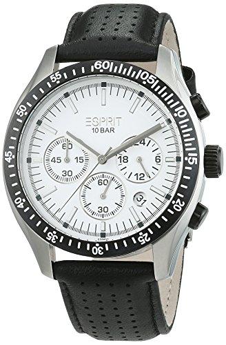 Esprit Herren-Armbanduhr Analog Quarz Leder ES102861004