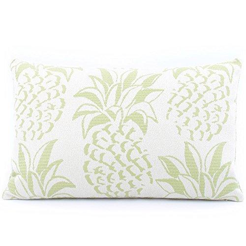 Chloe e oliva Pineapple Grove Mojito Outdoor collezione decorativa reversibile Fashion lombare cuscino, Poliestere, colore: corallo/verde/bianco, 12x 20