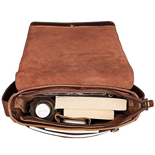 STILORD Joris Vintage Borsa Messenger medio Uomo Donna Borsa a tracolla per iPad 10,1 pollici Tablet PC Tracolla classico in vera pelle, Colore:marrone medio kara - cognac