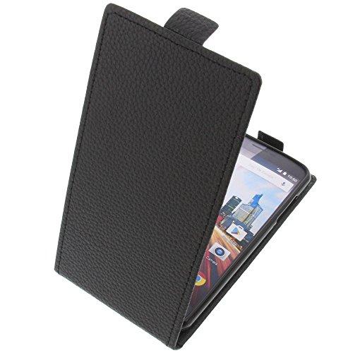 foto-kontor Tasche für Archos 55 Helium 55 Helium 4Seasons 55 Helium Ultra Smartphone Flipstyle Schutz Hülle schwarz
