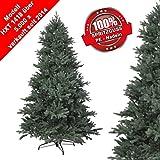 150 cm exklusiver, hochwertiger künstlicher PE Luxus Weihnachtsbaum, 100% Spritzgussnadeln ca. 2375 Spitzen, mit Metallständer, Minutenschneller Aufbau mit Klappsystem, schwer entflammbar, HXT 1418 - 2