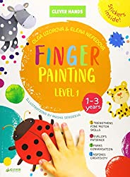 Finger Painting. Level 1: Stickers Inside! Strengthens Fine Motor Skills, Develops Patience, Sparks Conversati