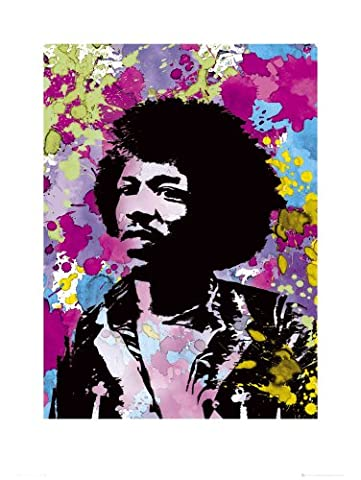 GB eye Ltd, Art Print, Jimi Hendrix, Colours, (60x80cm)