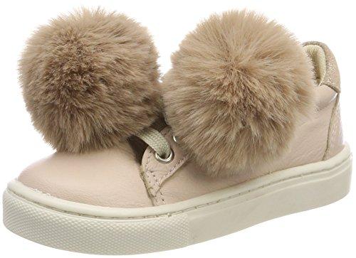 move Mädchen Girls-Sneaker mit Fell-Bommel, Pink (Hushed Violet), 38 EU
