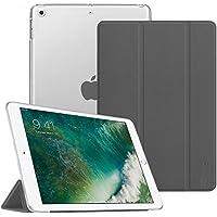 Fintie iPad 9.7 Zoll 2018/2017 Hülle - Ultradünn Superleicht Schutzhülle mit transparenter Rückseite Abdeckung Cover Case mit Auto Schlaf/Wach Funktion für Apple iPad 9,7'' 2018/2017, Himmelgrau