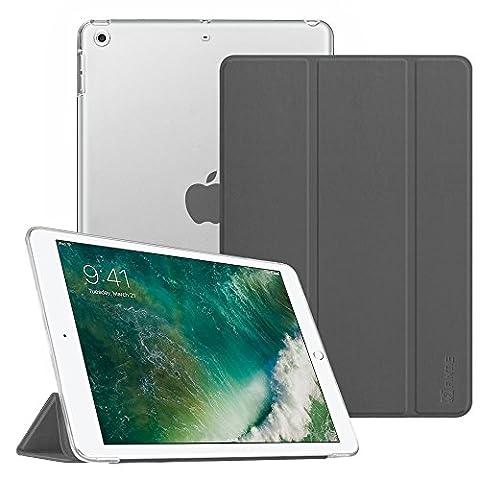 Fintie iPad 9.7 Zoll 2017 Hülle - Ultra Slim Superleicht Schutzhülle mit Lichtdurchlässig Rückseite Abdeckung Smart Cover Case Tasche mit Auto Schlaf / Wach und Standfunktion für Apple iPad 2017 Neue Modell, Himmelgrau
