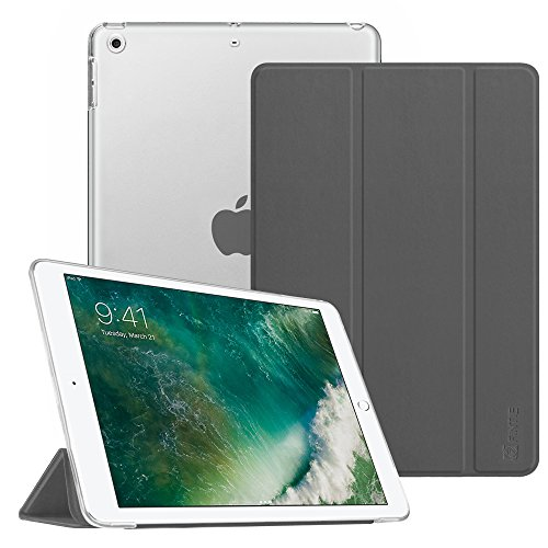 Fintie iPad 9.7 Zoll 2017 Hülle - Ultradünne Superleicht Schutzhülle mit transparenter Rückseite Abdeckung Smart Case mit Auto Schlaf / Wach Funktion für Apple iPad 2017 Neue Modell, Himmelgrau