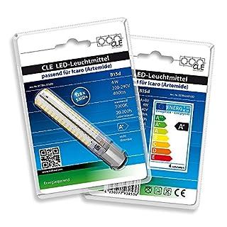 LED Leuchtmittel warmweiß für Artemide Icaro Tobias Grau Ochio Puro 230V B15d 3000K 4 Watt nicht dimmbar