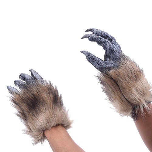 Yunt Gants pour Halloween Gants de Loup-garou en Vinyle Accessoires de Déguisement pour Halloween