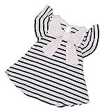 CUTUDE Kleinkind Baby Mädchen Gestreift Bowknot Kleider Kurzarm Sommerkleid Prinzessin Kleid Outfit Kleidung