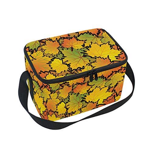 Ahomy Sac à déjeuner Isotherme avec Feuilles d'automne pour l'extérieur, l'école, Le Bureau, Les boîtes à déjeuner Organiseur pour Enfants et Adultes