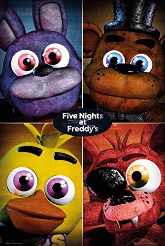 Maxi Poster Five Nights At Freddy's Quad 61 x 91,5 cm Laminato
