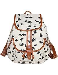 Leefrei casual Canvas Damen Herren Rucksack Daypack Backpacks Freizeitrucksack Schulrucksack Schultasche